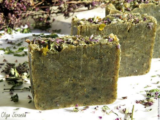 Мыло ручной работы. Ярмарка Мастеров - ручная работа. Купить Натуральное мыло с нуля «Восемь трав» (травяное мыло). Handmade.