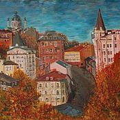 """Картины и панно ручной работы. Ярмарка Мастеров - ручная работа """"Город, влюблённый в осень"""". Handmade."""