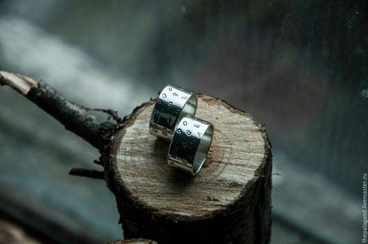 """Кольца ручной работы. Ярмарка Мастеров - ручная работа. Купить Серебряные кольца """"Любовь!"""" - широкие обручальные кольца из серебра. Handmade."""
