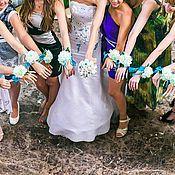 Свадебный салон ручной работы. Ярмарка Мастеров - ручная работа Браслет на руку для подружек невесты. Handmade.