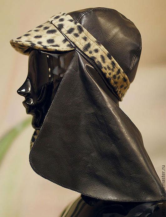 """Шляпы ручной работы. Ярмарка Мастеров - ручная работа. Купить Шляпка оригинальная """"Леопардовая завеса"""" - теплая кепка с козырьком. Handmade."""