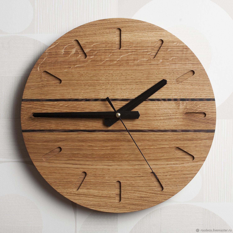 Часы настенные деревянные круглые №21, Часы классические, Раменское,  Фото №1