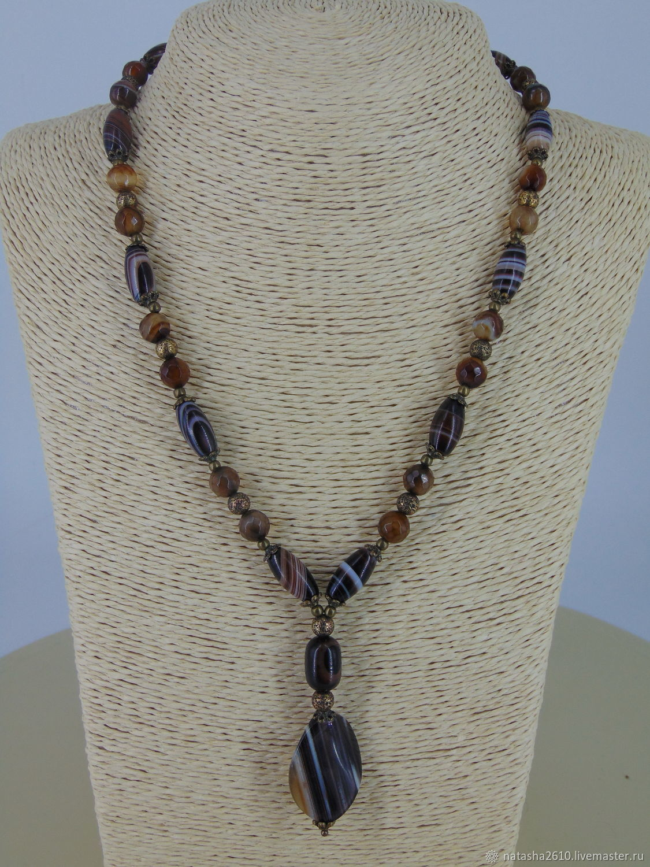 Necklace made of natural stones 'the Borgias', Necklace, Velikiy Novgorod,  Фото №1