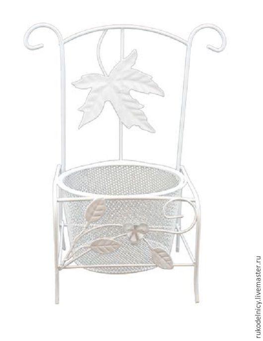 Металлический стул-кашпо