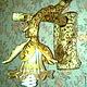 """Освещение ручной работы. Ярмарка Мастеров - ручная работа. Купить Светильник БРА """"Лесной огонёк"""". Handmade. Лимонный, дерево"""
