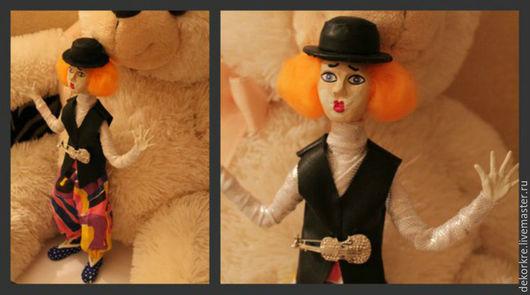 Коллекционные куклы ручной работы. Ярмарка Мастеров - ручная работа. Купить Кукла- клоун. Handmade. Комбинированный, кукла в подарок
