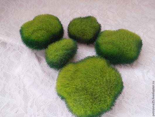 Другие виды рукоделия ручной работы. Ярмарка Мастеров - ручная работа. Купить Камни плоские  набор 5шт. Handmade. Зеленый
