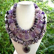 Украшения handmade. Livemaster - original item Amazing necklace natural stone amethyst. The author`s work. Handmade.