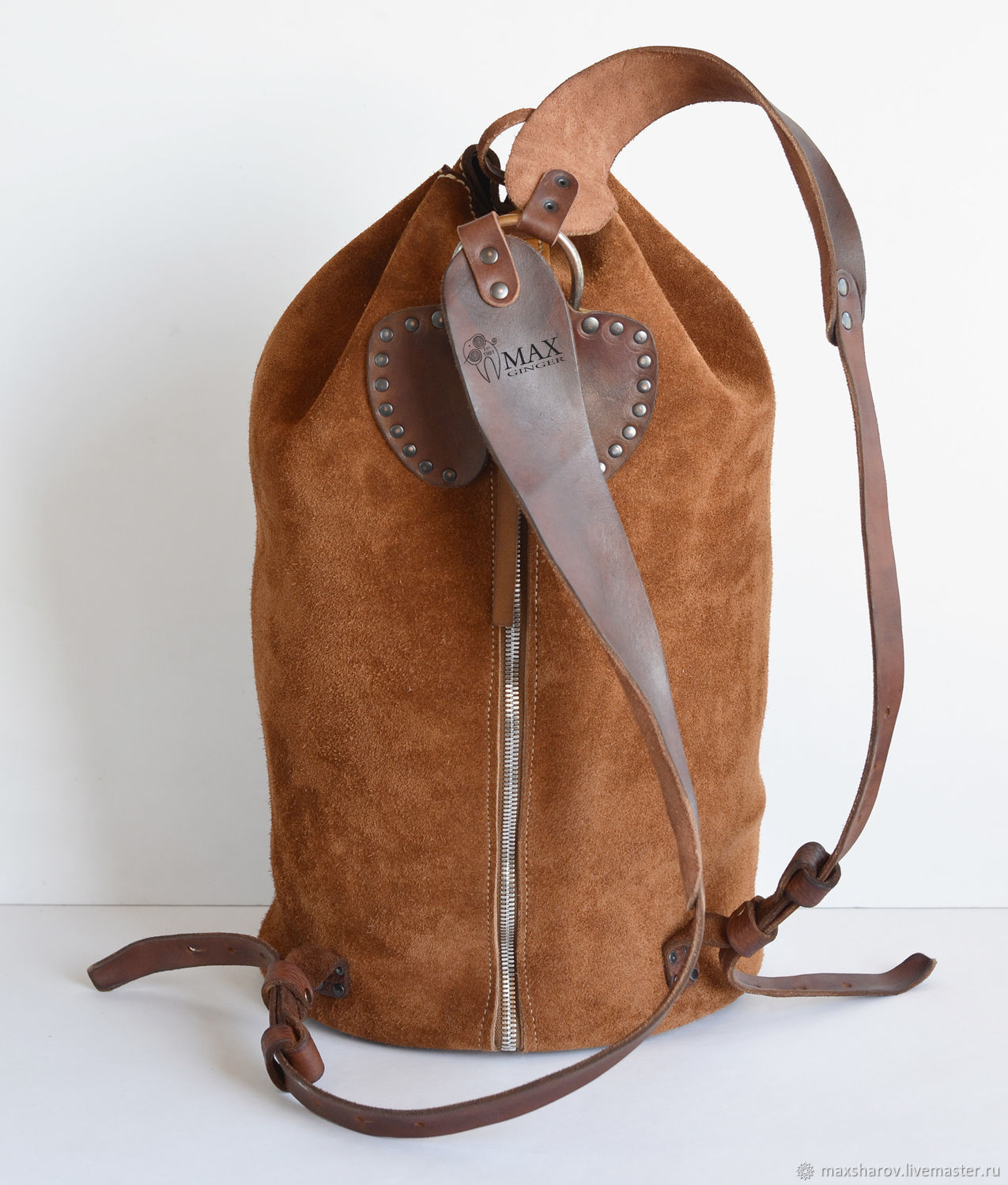 Suede backpak. Handecrafted. TOSCANA, Backpacks, Moscow,  Фото №1
