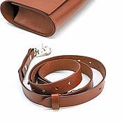 Сумки и аксессуары handmade. Livemaster - original item Leather female bag on a belt, handmade. Handmade.