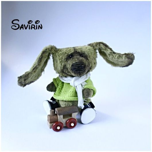 Мишки Тедди ручной работы. Ярмарка Мастеров - ручная работа. Купить Милый зайка - авторская коллекционная игрушка. Handmade. Заяц