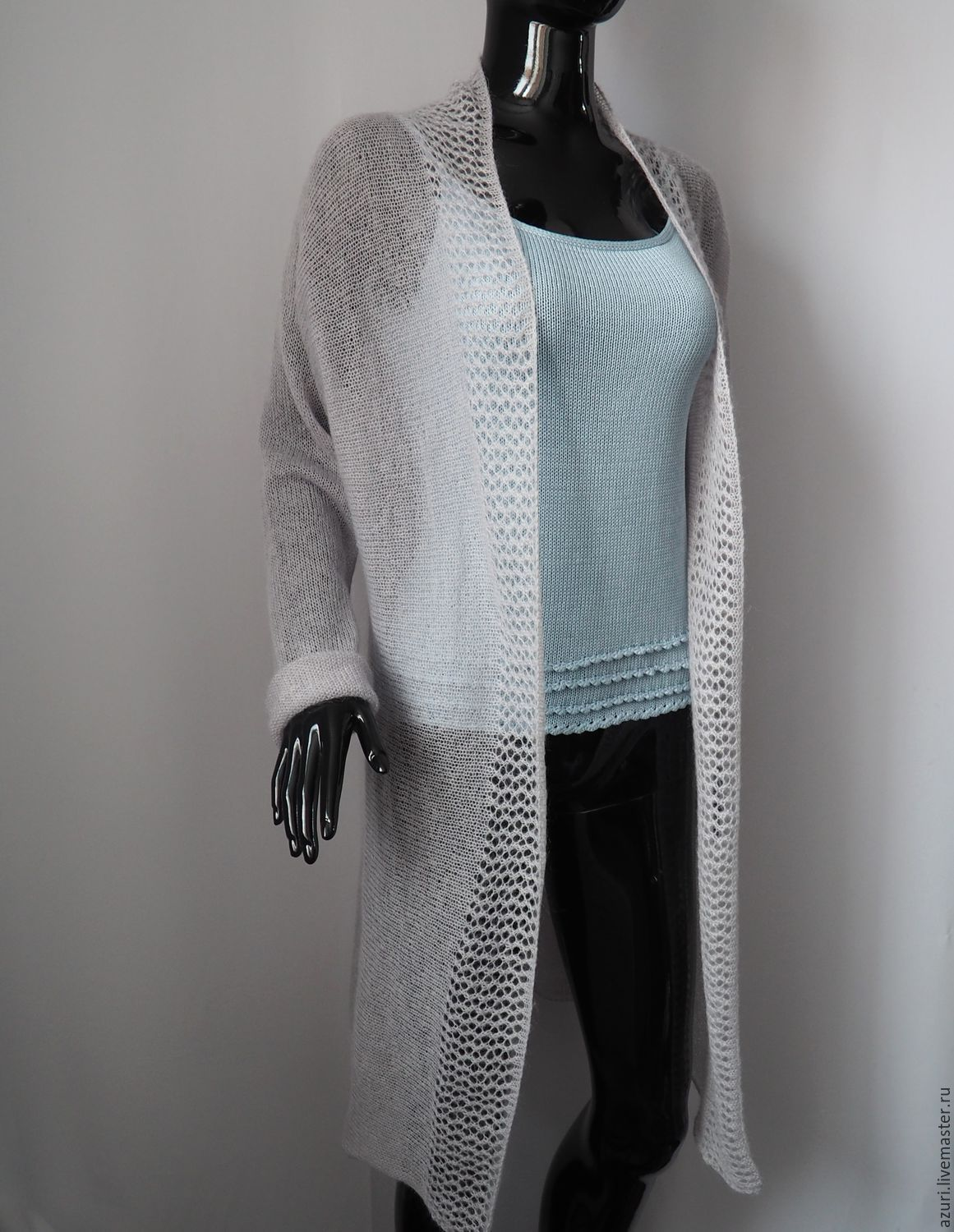Cardigan knitted from kid-mohair, Cardigans, Cheboksary,  Фото №1