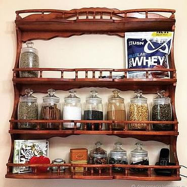 Для дома и интерьера ручной работы. Ярмарка Мастеров - ручная работа Полка для кухни Точёнка. Handmade.