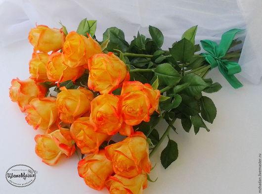 Розы,розы в интерьере,розы из полимерной глины,розы в букете,розы ручной работы,авторская работа