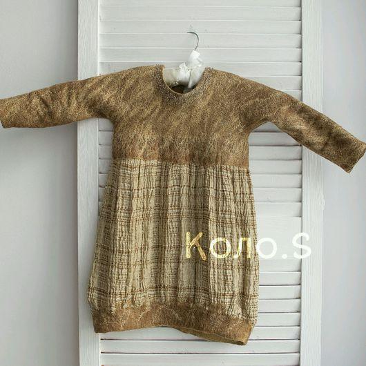 Одежда для девочек, ручной работы. Ярмарка Мастеров - ручная работа. Купить Валяное платье Песочные часы. Handmade. Валяное платье