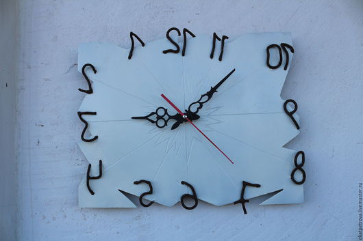 """Часы для дома ручной работы. Ярмарка Мастеров - ручная работа. Купить Часы """"Взгляд из-за зеркалья"""". Handmade. Серебряный, железо"""