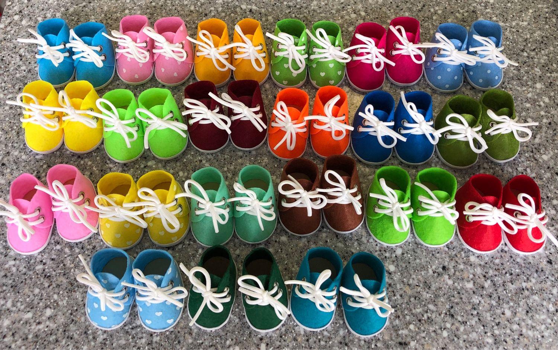 Кукольные ботиночки из фетра, Одежда для кукол, Москва,  Фото №1