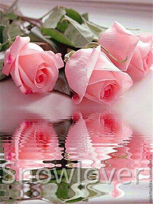 Набор Алмазной вышивки `Розовые розы` (арт.64). Набор можно заказать в любых размерах в технике `Набор для рисования картин` ,`Алмазная живопись` и в технике `Фотокартина`. Цены по запросу.
