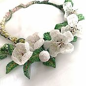 Украшения handmade. Livemaster - original item Necklace: Apple-blossom. Handmade.