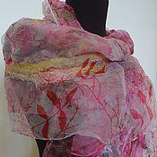 Аксессуары ручной работы. Ярмарка Мастеров - ручная работа валяный  шарф  Розовые сны. Handmade.