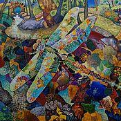 """Картины и панно ручной работы. Ярмарка Мастеров - ручная работа картина """"Стрекоза"""". Handmade."""