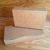 Материалы для творчества ручной работы. Ярмарка Мастеров - ручная работа Коробочка крафт закрытая(2 размера). Handmade.