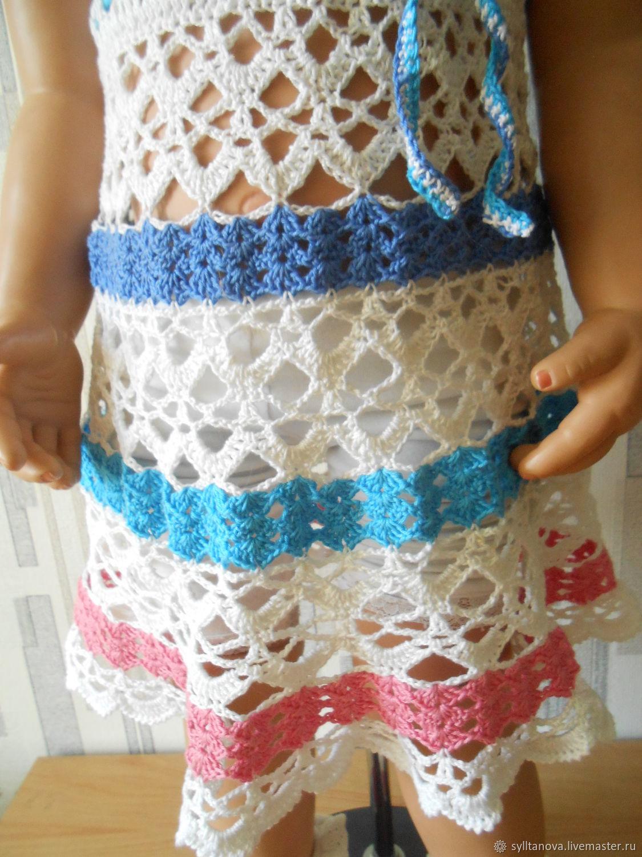 Платье детское, летнее связанное крючком