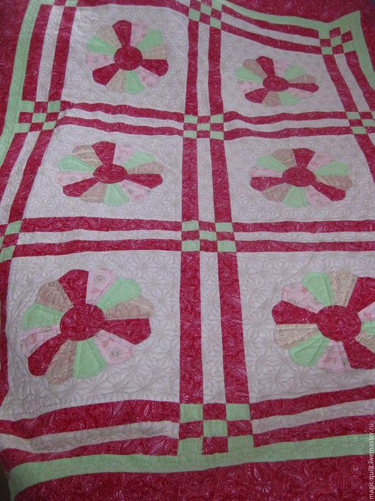 Текстиль, ковры ручной работы. Ярмарка Мастеров - ручная работа. Купить Плед. Handmade. Комбинированный, печворк, нитки для стежки
