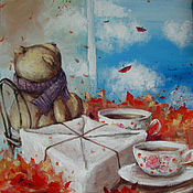 Картины и панно ручной работы. Ярмарка Мастеров - ручная работа Осеннее настроение:). Handmade.