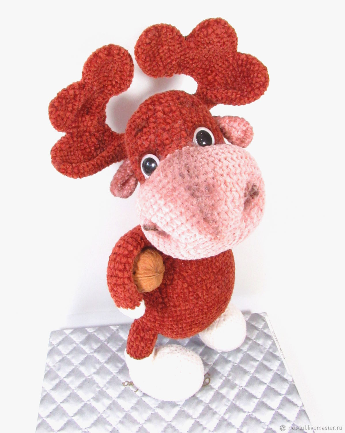 Soft toys: Crocheted elk deer velour joy to the child, Stuffed Toys, Electrogorsk,  Фото №1