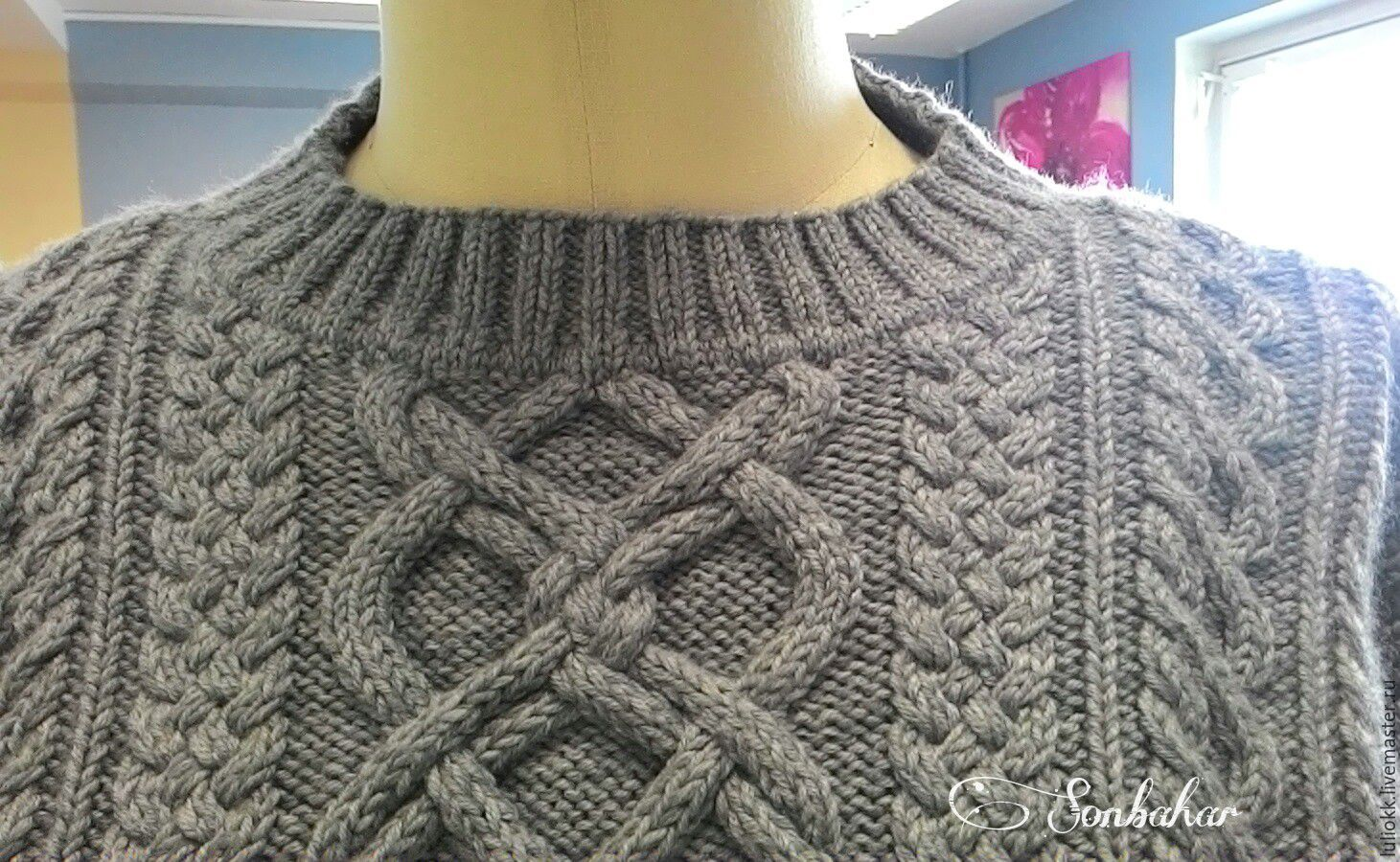 Вязаный свитер ручной работы – купить в интернет-магазине ...