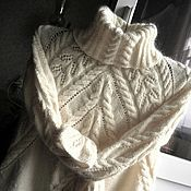 Одежда handmade. Livemaster - original item The Stephanie sweater of kid mohair and wool mixture. Handmade.