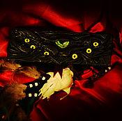 Субкультуры handmade. Livemaster - original item Guardian of the box. Jewelry box. Genuine leather.. Handmade.