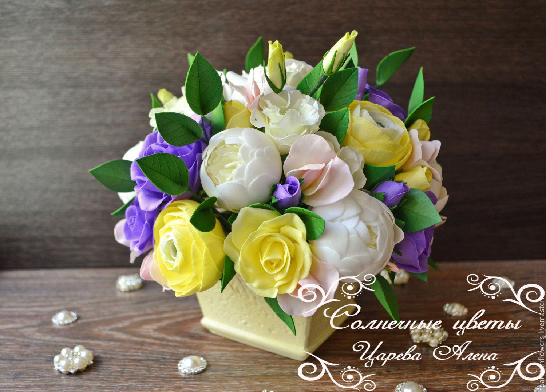 Композиция цветов из фоамирана
