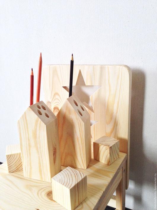 Карандашницы ручной работы. Ярмарка Мастеров - ручная работа. Купить Карандашница деревянная. Handmade. Бежевый, дом, в детскую, для девочки