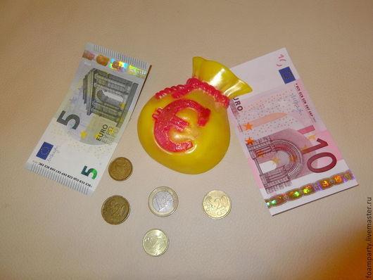 """Мыло ручной работы. Ярмарка Мастеров - ручная работа. Купить Мыло """"Мешок евро"""". Handmade. Разноцветный, подарок на любой случай"""