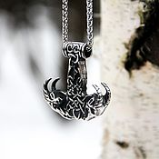 Украшения handmade. Livemaster - original item Pendant / Amulet Mjolner with jewelry steel sheep. Handmade.