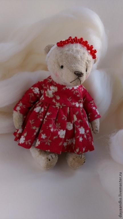 Мишки Тедди ручной работы. Ярмарка Мастеров - ручная работа. Купить Матрена. Handmade. Белый, красный, подарок девушке, мишка