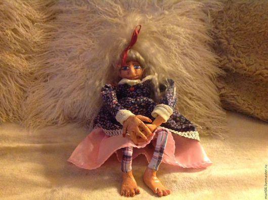 Коллекционные куклы ручной работы. Ярмарка Мастеров - ручная работа. Купить Жанэт. Handmade. Тёмно-синий, текстиль, трикотаж хлопок