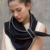 Аксессуары ручной работы. Ярмарка Мастеров - ручная работа Стильный женский шарф с молниями / Эффектный черный шарф. Handmade.