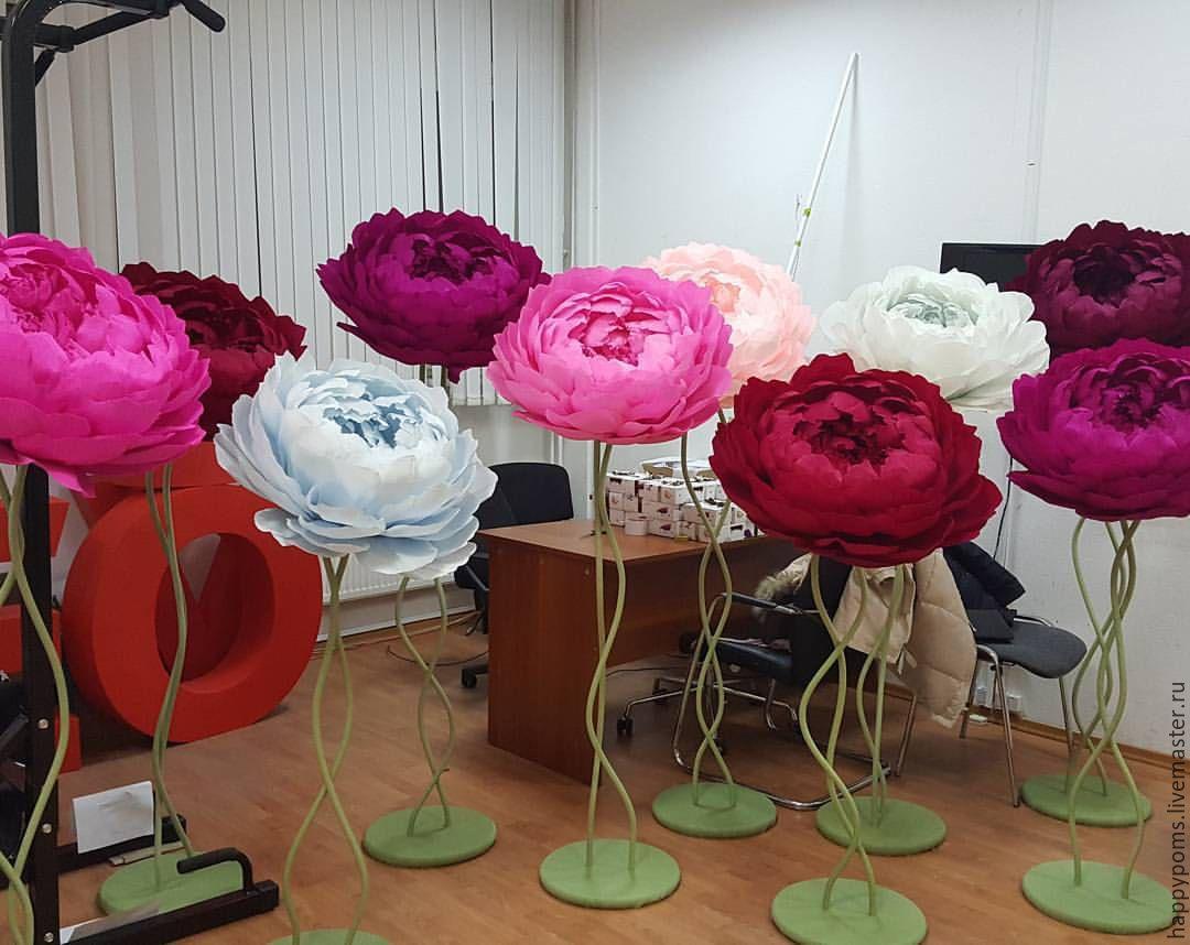 Как сделать большие цветы на свадьбу своими руками 80