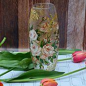 "Вазы ручной работы. Ярмарка Мастеров - ручная работа Ваза ""Розовый сад"". Handmade."