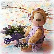 Куклы и игрушки ручной работы. Ярмарка Мастеров - ручная работа Мишка-тедди Лавандовая. Handmade.