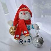 Куклы и игрушки ручной работы. Ярмарка Мастеров - ручная работа Снеговичок сваляный из шерсти. Handmade.