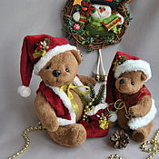 Stuffed Toys handmade. Livemaster - original item Teddy bears Christmas!. Handmade.