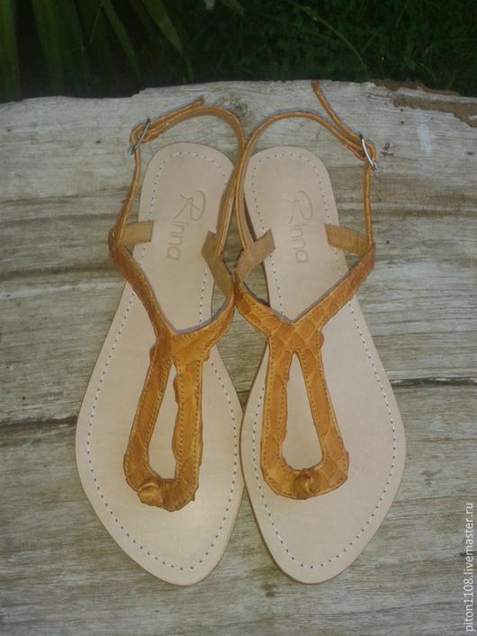 Обувь ручной работы. Ярмарка Мастеров - ручная работа. Купить Сандалии из кожи питона. Handmade. Сандалии, сандалии из питона