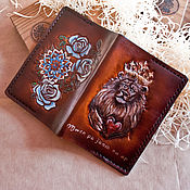 Канцелярские товары handmade. Livemaster - original item Leather cover passport cover documents. Handmade.