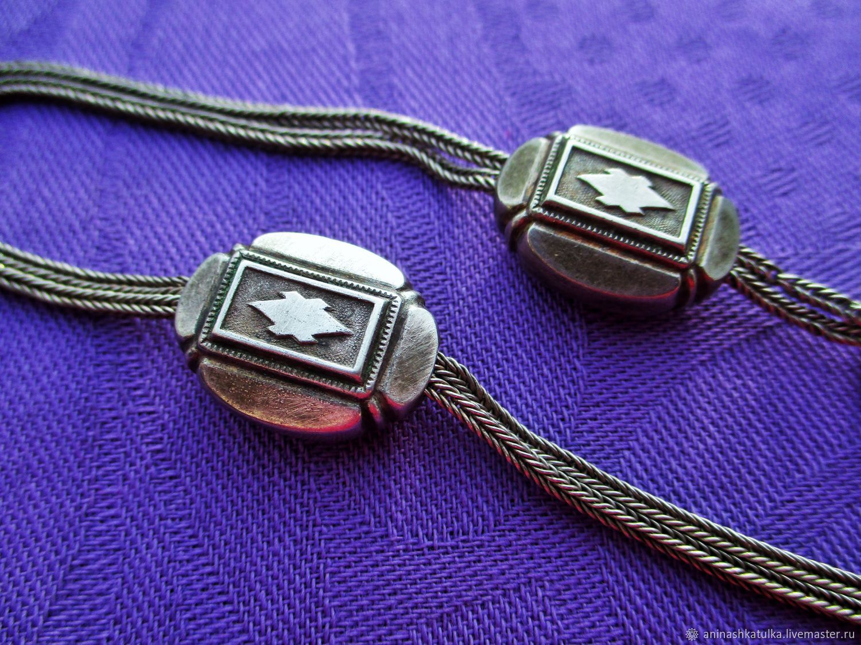 Винтаж: Антикварная цепь для карманных часов серебро с пробой Франция, Колье винтажные, Орлеан,  Фото №1