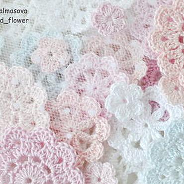 Materials for creativity handmade. Livemaster - original item Set Gentle gentle knitted decoration for scrap. Handmade.