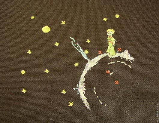 """Люди, ручной работы. Ярмарка Мастеров - ручная работа. Купить Вышитая картина   """"Маленький принц"""". Handmade. Вышивка крестом, картина"""